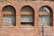 Glass-blowers' window on Murano, Venice