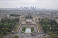 Esplanade du Trocadero, with Paris CBD in the background