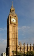 Big Ben with clear skies