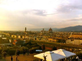 The viewing terrace of the Piazzale Michelangelo