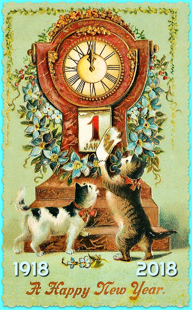 100 Years Of New Years Eve Cheer With Cats Creating