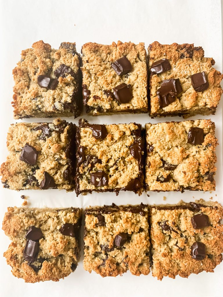 tahini cookie bars