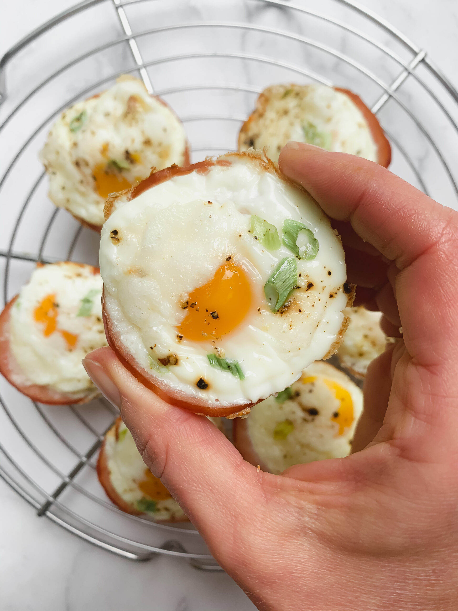 Canadian Bacon + Egg Breakfast Cups (Gluten Free, Low Carb)
