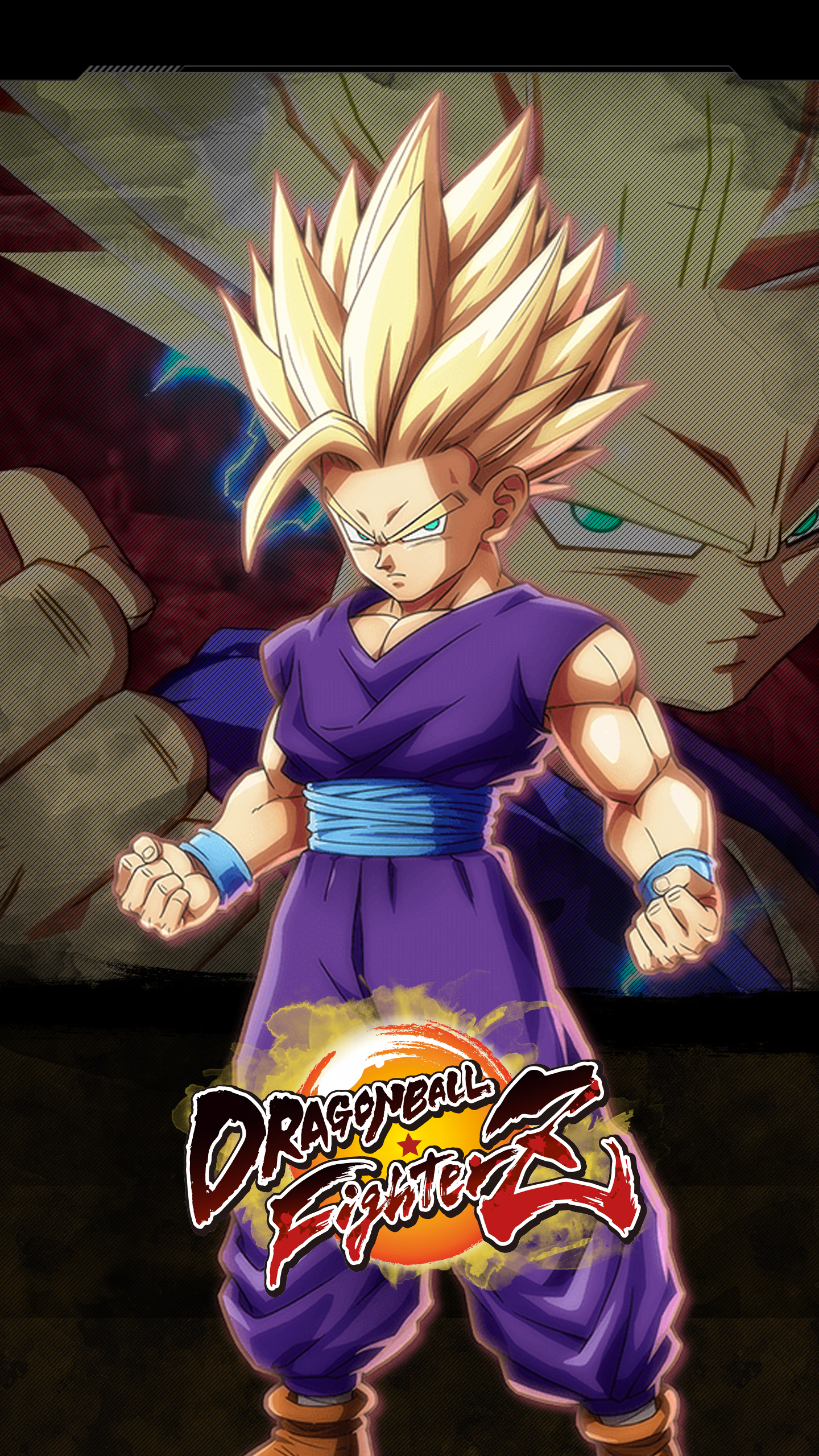 Iphone Wallpaper Size Dragon Ball Fighterz Gohan Teen Wallpapers Cat With Monocle