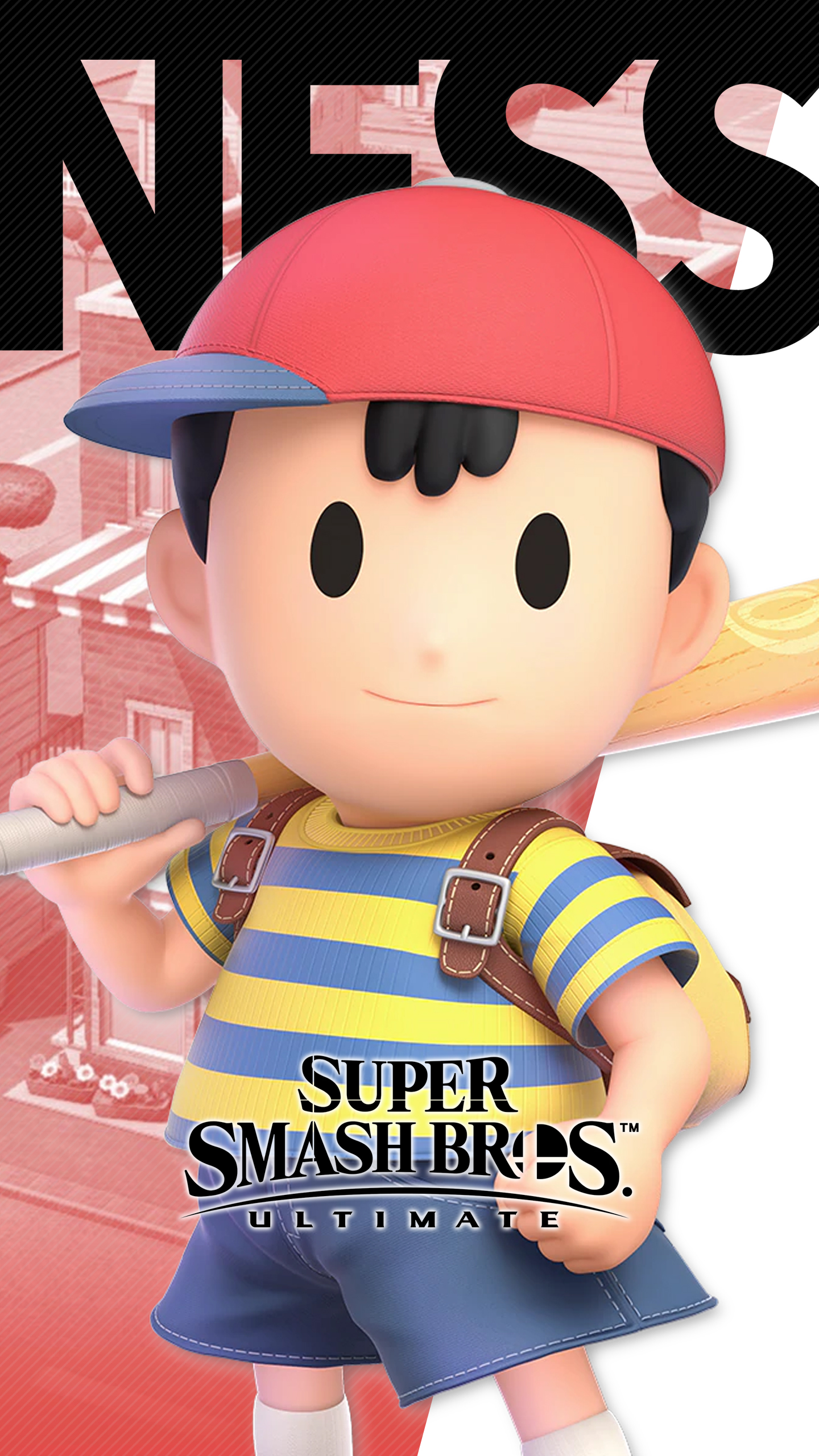 Iphone Se Wallpaper Size Super Smash Bros Ultimate Ness Wallpapers Cat With Monocle