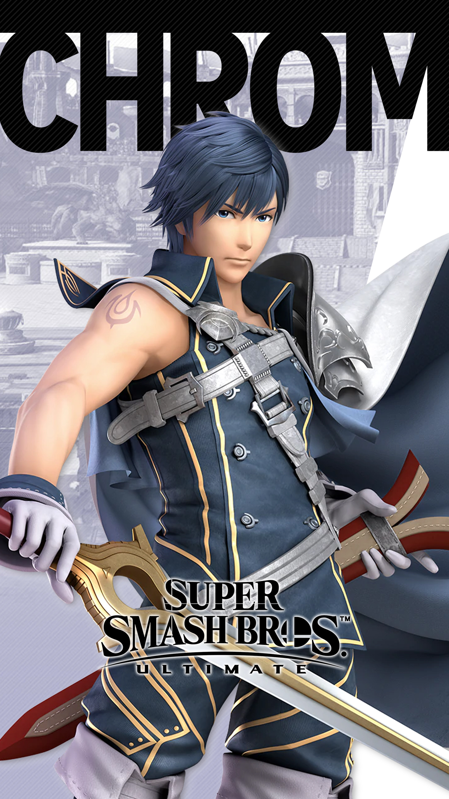 Animated Iphone X Wallpaper Super Smash Bros Ultimate Chrom Wallpapers Cat With Monocle