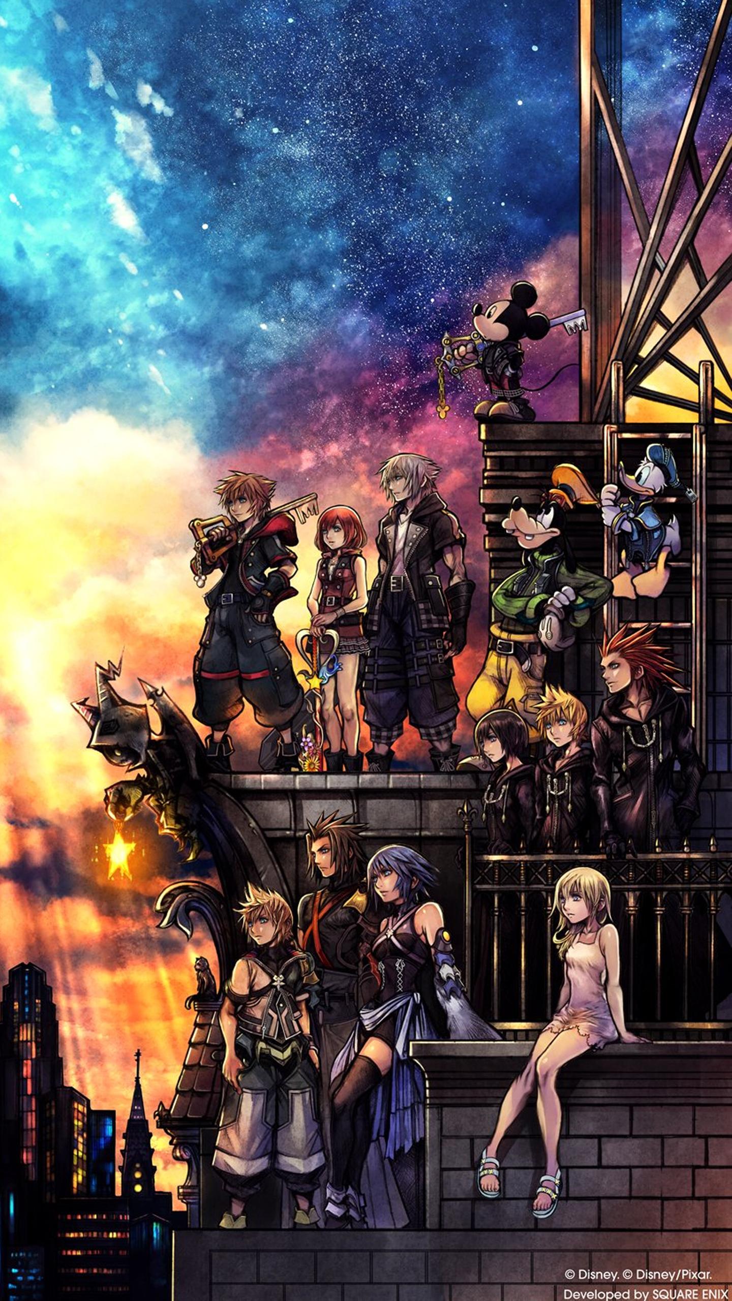 Kingdom Hearts Iphone Wallpaper Kingdom Hearts Iii Wallpaper Cover Art Wallpaper Cat