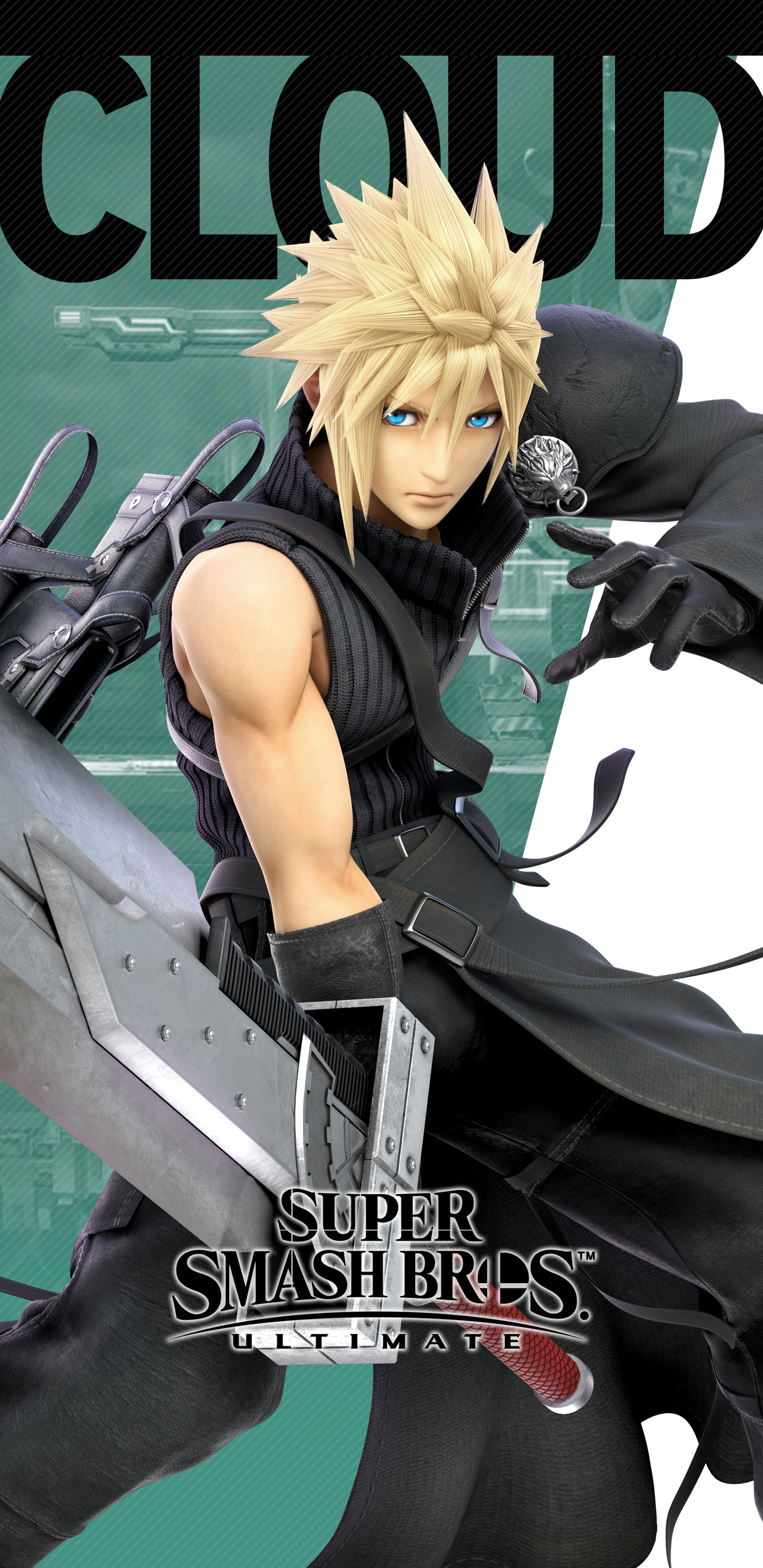 Super Smash Bros Ultimate Advent Children Cloud Wallpapers Cat With Monocle