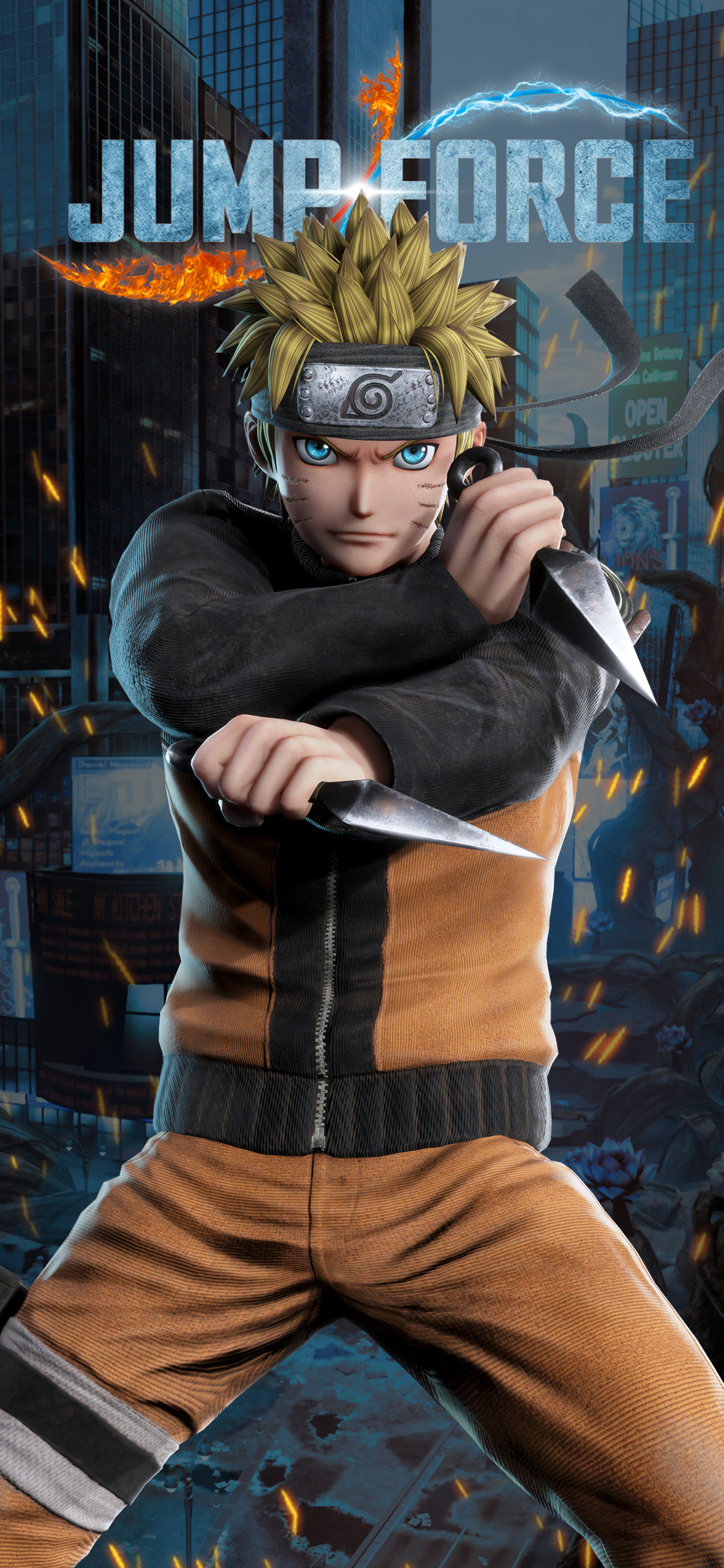 Wallpaper Naruto Iphone Jump Force Naruto Wallpapers Cat With Monocle