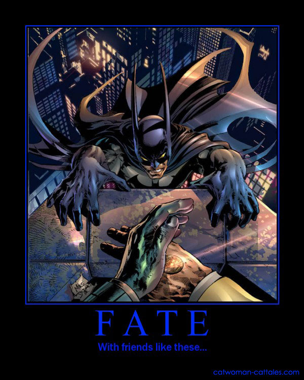 Batman Motivaton Poster: Two-Face. Fate