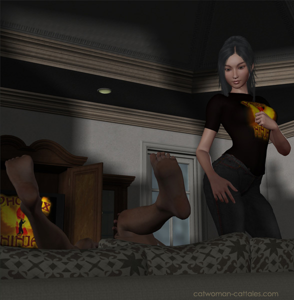 Batgirl (Cassie Cain) beats Robin (Tim Drake) at Phoenix Ninja. Again.