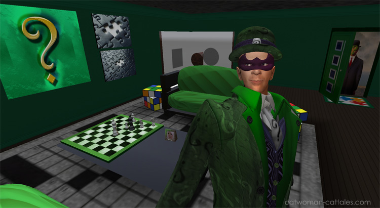 Riddler in his lair