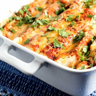 Sweet Potato & Black Bean Enchiladas | Catz in the Kitchen | catzinthekitchen.com #enchiladas