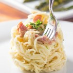 Spaghetti Carbonara | Catz in the Kitchen | catzinthekitchen.com | #spaghetti #pasta #bacon