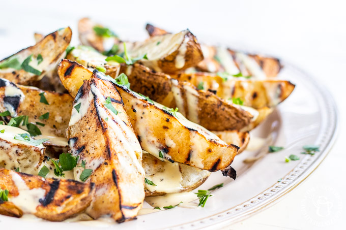 This recipe for smoky grilled potato wedges is a fun and flavorful alternative to French fries that compliments any grilled meal!