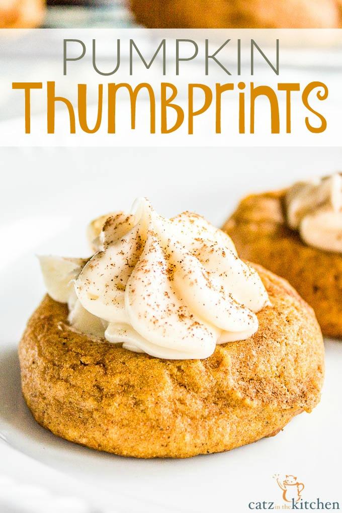 Pumpkin Thumbprints   Catz in the Kitchen   catzinthekitchen.com   #pumpkin #fall #cookies