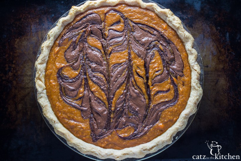 Nutella Swirled Sweet Potato Pie