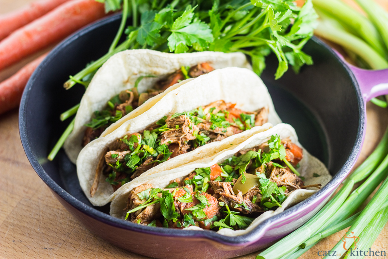 Slow-Cooker Turkey Mole Street Tacos
