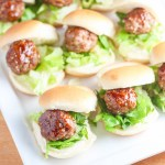 Chinese Meatball Sliders | Catz in the Kitchen | catzinthekitchen.com #sliders