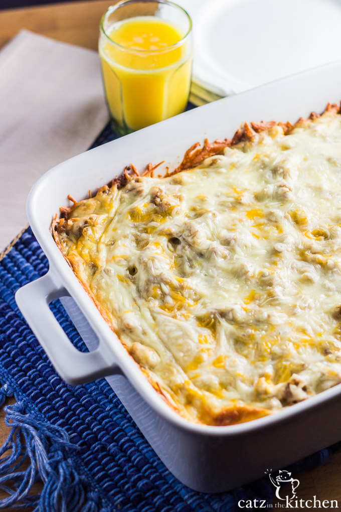 Overnight Sausage Egg & Cheese Casserole