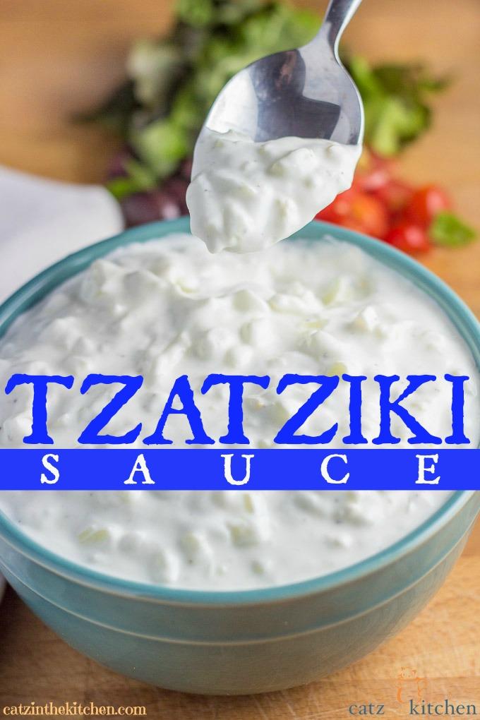 Tzatziki Sauce | Catz in the Kitchen | catzinthekitchen.com #Greek