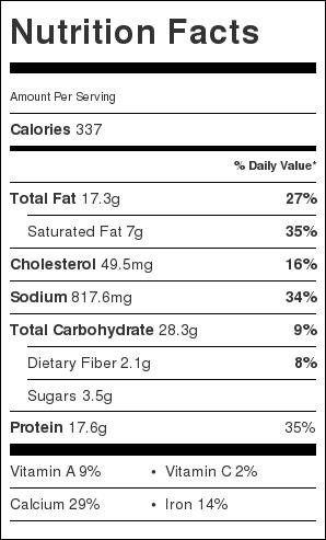 Cinnamon Chicken Enchiladas Nutrition Info