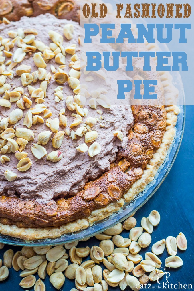 Old-Fashioned Peanut Butter Pie   Catz in the Kitchen   catzinthekitchen.com #FathersDay