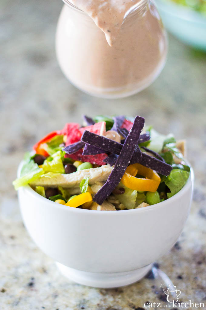 Southwest Chicken Salad | Catz in the Kitchen | catzinthekitchen.com #salad
