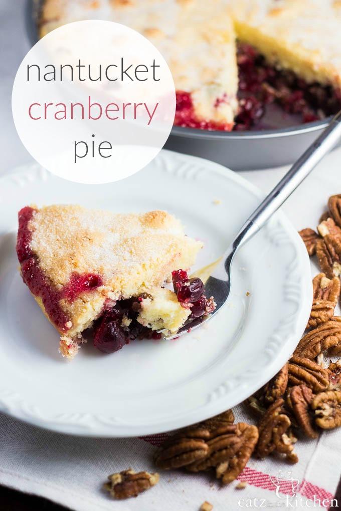 Nantucket Cranberry Pie   Catz in the Kitchen   catzinthekitchen.com   #dessert #pie #cranberries
