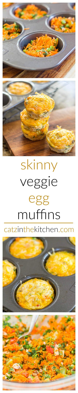 Skinny Veggie Egg Muffins | Catz in the Kitchen | catzinthekitchen.com | #healthy #breakfast #skinny