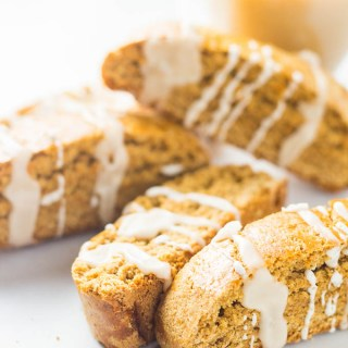 Iced Gingerbread Biscotti