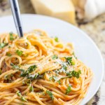 In need of an easy, inexpensive meal that's still full of flavor and popular with the whole family? Try this go-to recipe for easy garlic spaghetti!