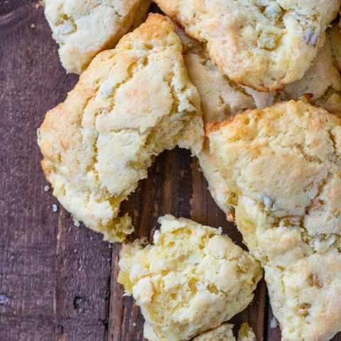 This easy recipe for Green Chili & Cheddar Cheese Scones is a perfect accompaniment to soups, chilis, and so many other warm, southwestern dishes!