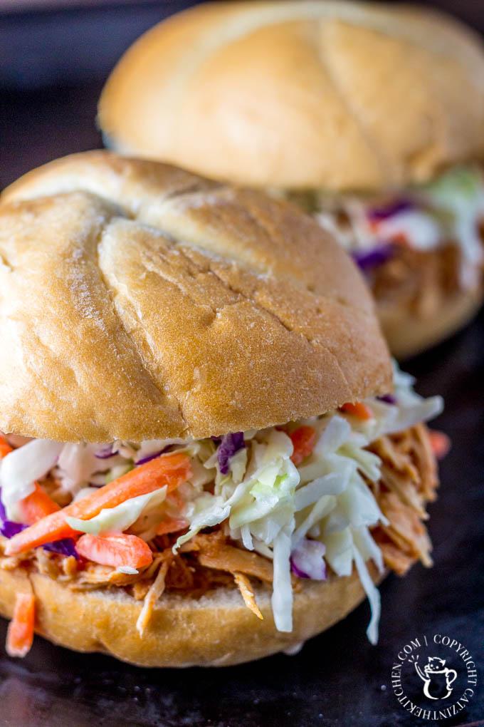 Slow-Cooker BBQ Chicken Sandwiches