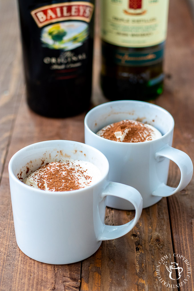 Irish mug brownie