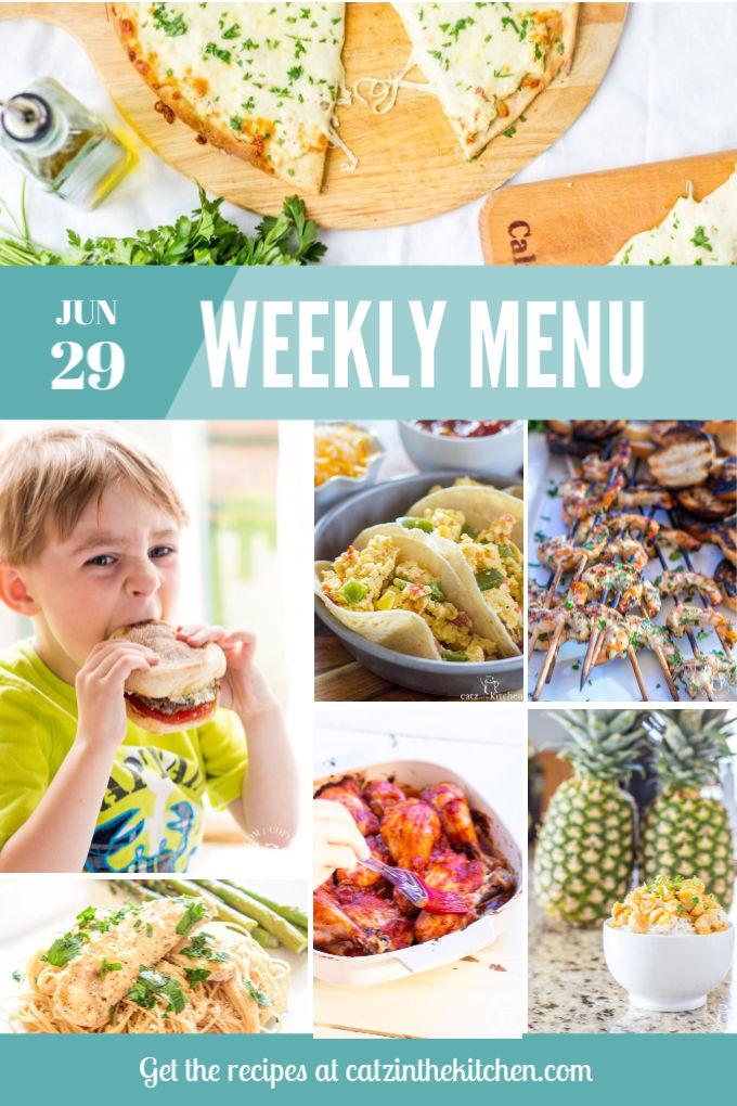 Weekly Menu for the Week of June 29