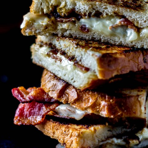 Grilled Bacon Bleu Cheese & Fig Sandwiches