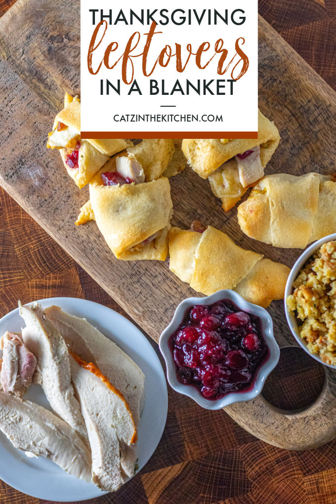 Got yourself some leftover cranberries, stuffing, and turkey? Wrap those Thanksgiving leftovers in a blanket and call it a meal!