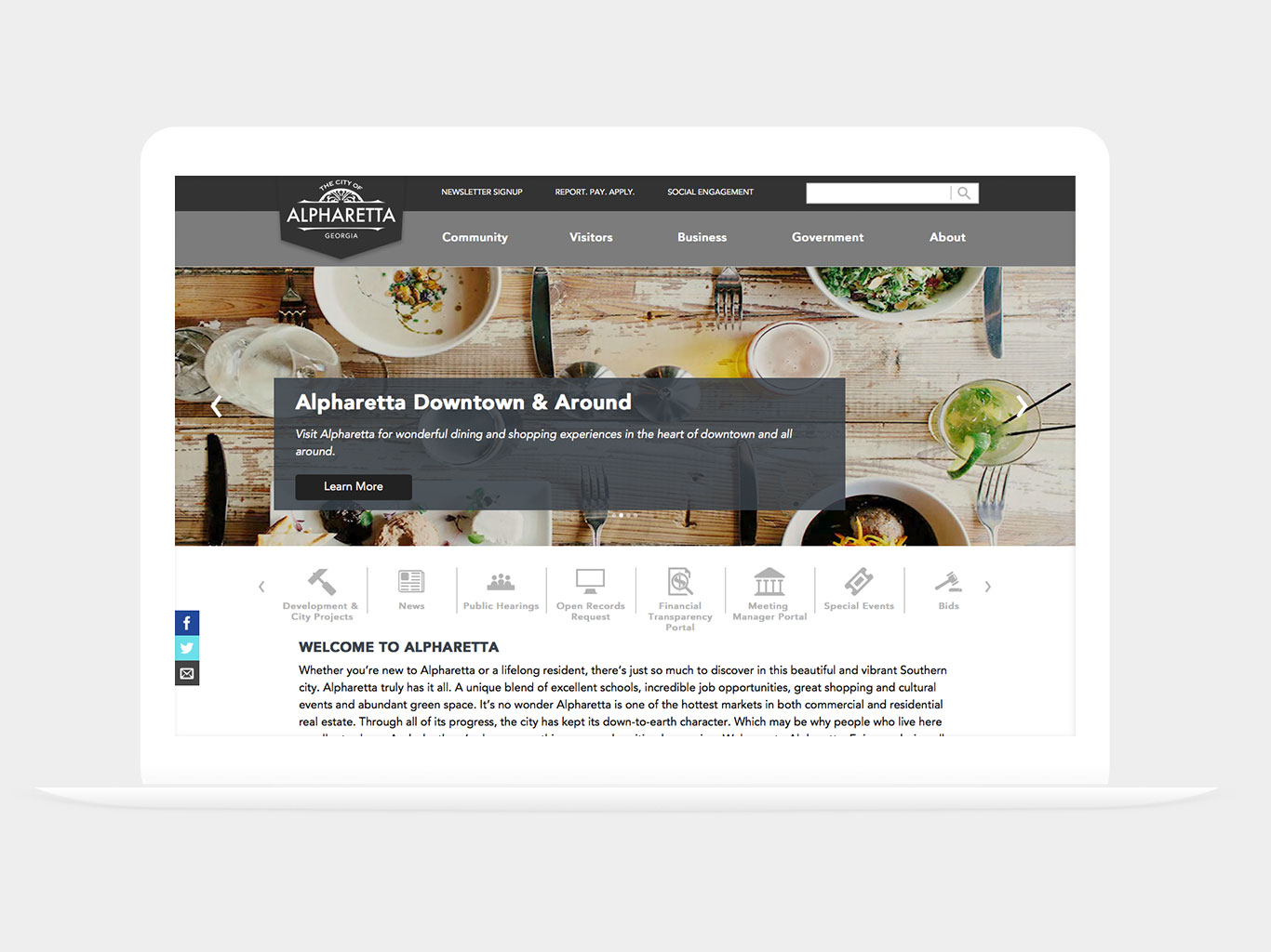 City of Alpharetta Website Design