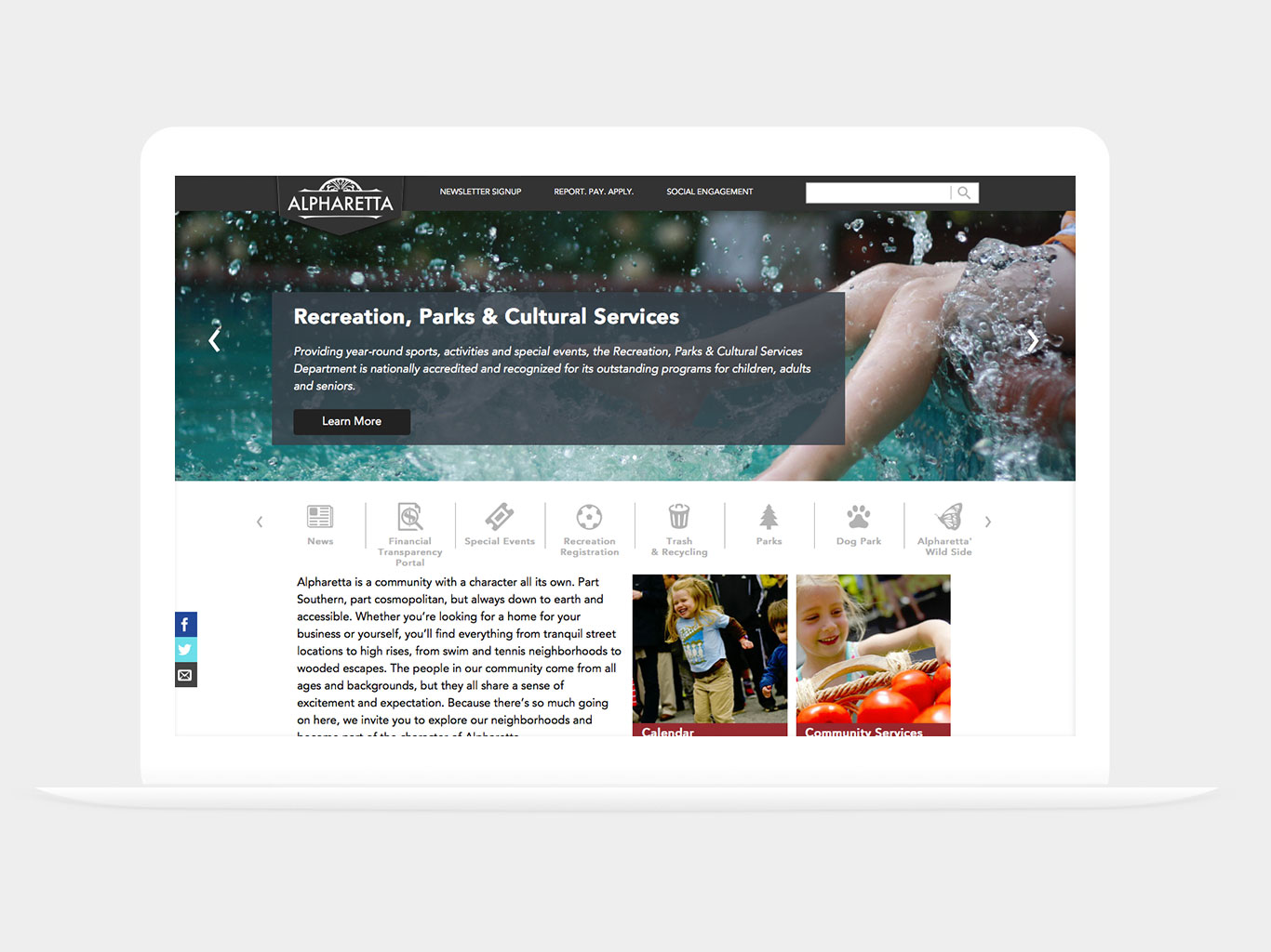 City of Alpharetta Website Design
