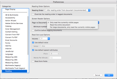 Acrobat Pro Reading Preferences