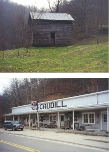 Top: Stiller Bill Cabin near Blackey, KY Bottom: C.B. Caudill Store, near Blackey, KY