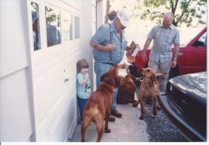Herschel Hackworth (deceased), Isaac Caudill Jr, Allyson Caudill near Dillwyn, VA
