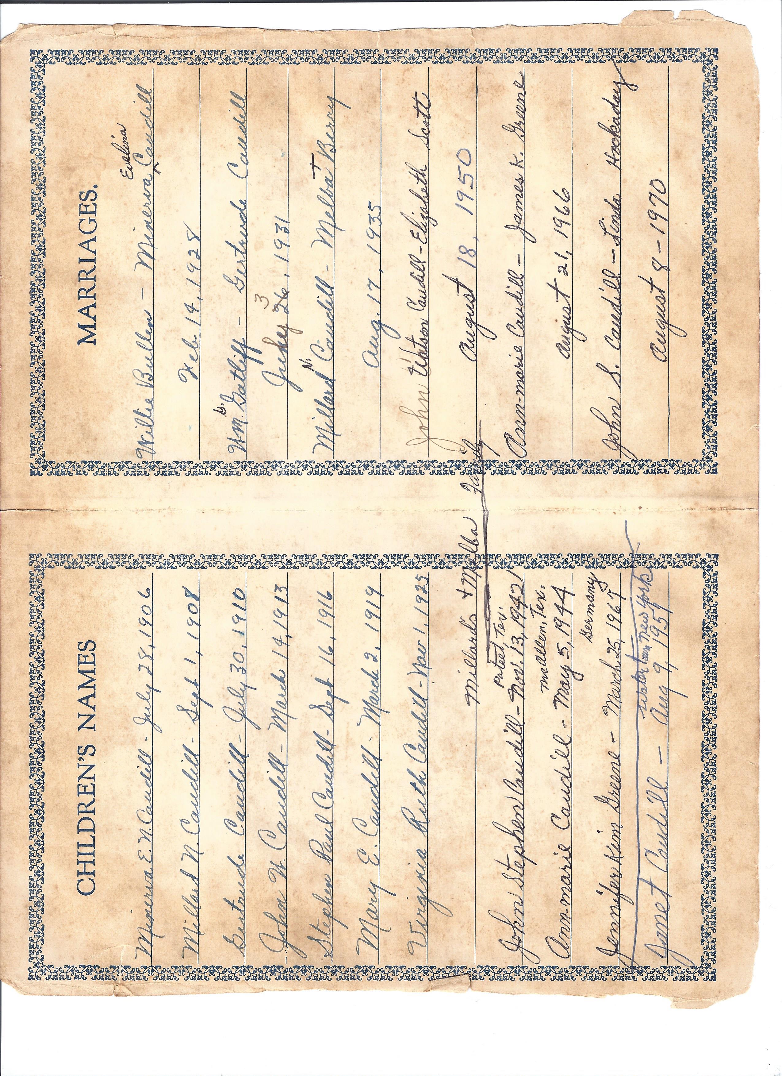Caudill Genealogy Photos – Caudill Cousins