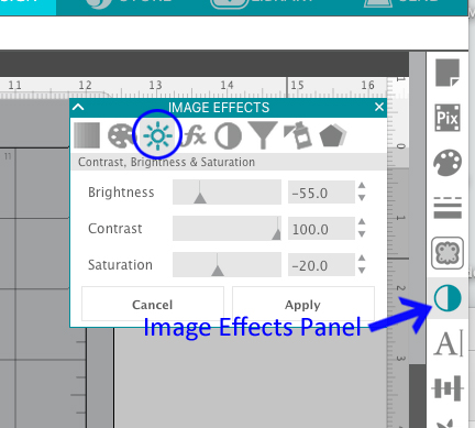 Image Effects Panel