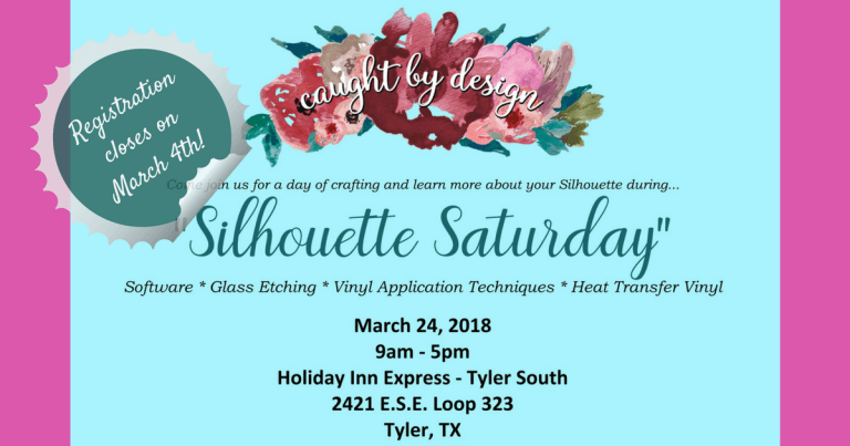 Silhouette Saturday: last call for registration plus a BIG thank-you to our sponsors!!!