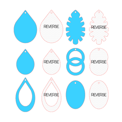 Faux Leather Earrings, Silhouette Studio, Fill Pattern