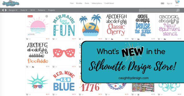 What's *NEW* in the Silhouette Design Store! (and a discount code!!!)