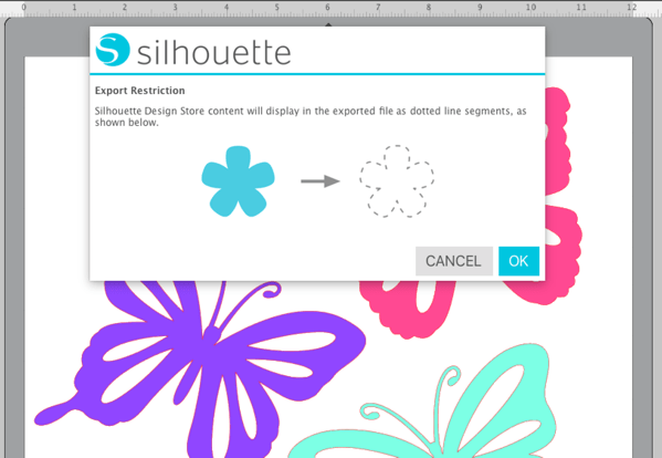 Silhouette Studio error message when exporting as SVG