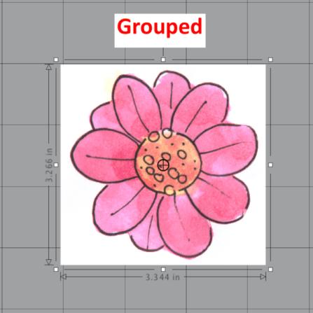 Silhouette Design Store watercolor flower